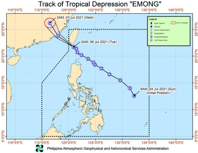 'Bagyong Emong' PAGASA track
