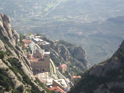 View of Montserrat Abbey