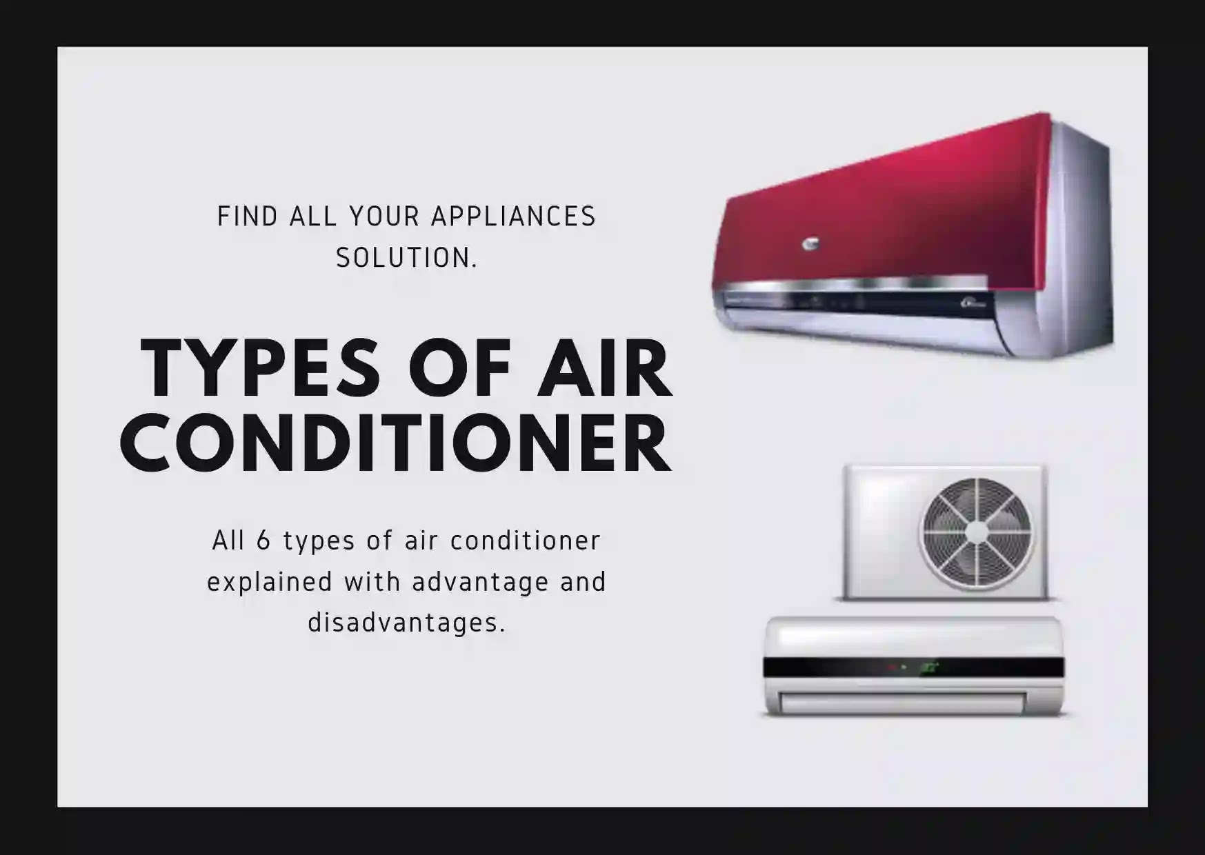 All types of air conditioner