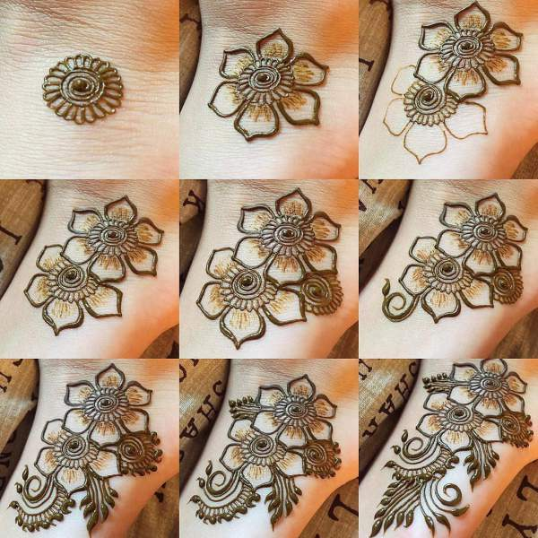 20 Step By Step Mehndi Designs For Beginners Bling Sparkle,Mens Diamond Ring Designs Tanishq