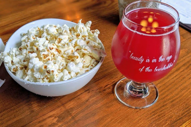 Craft beer and kettle corn in Portland Maine