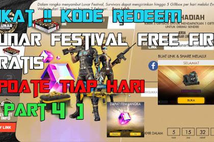 Sikat!! Kode Redeem Lunar Festival Free Fire Gratis, Update Tiap Hari [ Part 4 ]