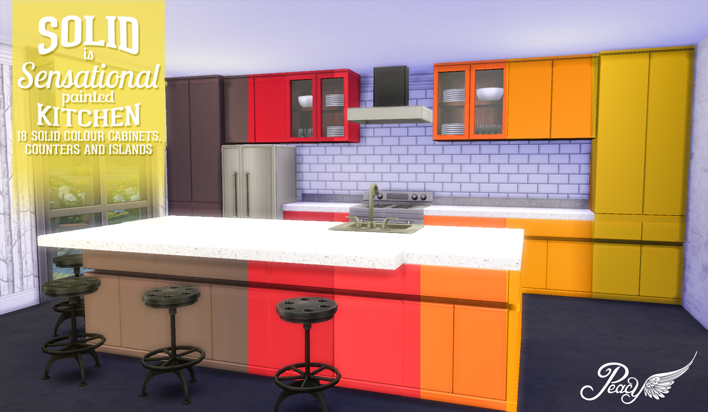 kitchen cabinet updates stainless steel countertops my sims 4 blog: solid is sensational painted by ...