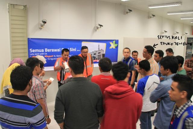 Jelajah cepat XL Network Building dan wisata seluler ke MSC tanjung morawa