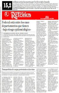 EDICIÓN IMPRESA DE RETÓRICA DEL 3-9-2021