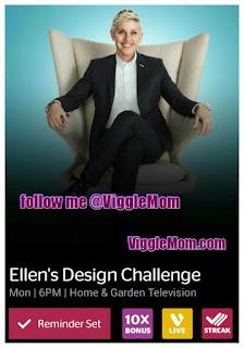 Ellen's Design Challenge, HGTV, Viggle, ViggleMom, Snapmaster
