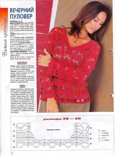 Reseña de blusa a crochet