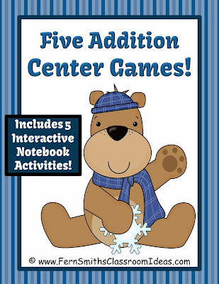 http://www.teacherspayteachers.com/Product/Winter-Addition-Centers-and-Interactive-Notebook-Activities-995595