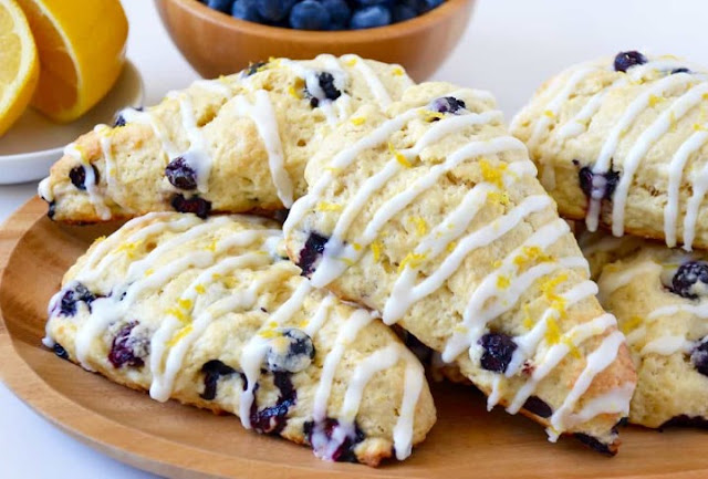 Vegan Blueberry Scones #vegan #breakfast