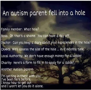 An autism parent fell into hole