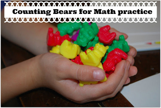 Preschool Activity Ideas | Toddler Activity Ideas | Mommy With Selective Memory: Math Practice with Counting Bears