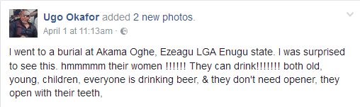 4 - Check Out Women spotted drinking beer at a burial ceremony in Enugu state(Photos)