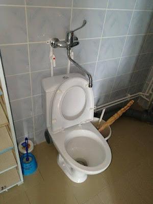 Robinet spécial pour les WC