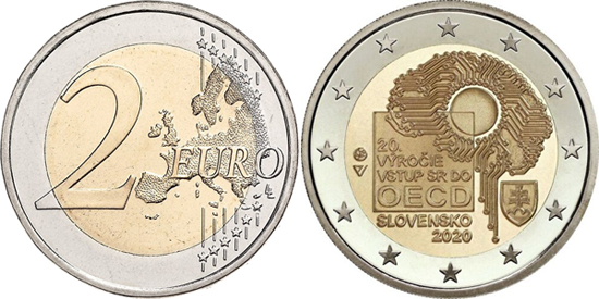 Slovakia 2 euro 2020 - 20 years of Slovakia's accession to the OECD