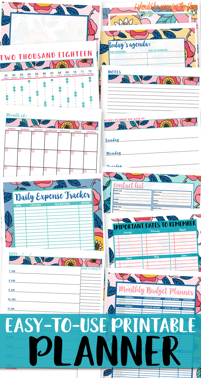This BIG Printable Planner is the perfect way to organize your life and schedule in a written format. From expense pages to daily agendas, this printable planner has EVERYTHING!