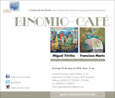 La Cultura del Café, obras de los artistas Miguel Triviño y Francisco Marín Galería de Arte Florida