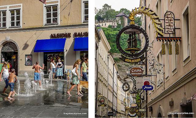Linzergasse, rua do Centro Histórico de Salzburgo