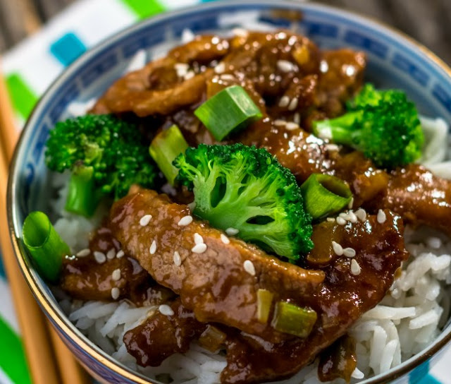 Healthy Instant Pot Mongolian Beef #healthy #lowcarb
