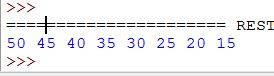 Reverse output through range()