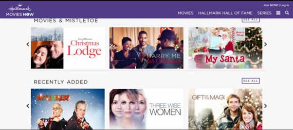 موقع Hallmark Movies Now