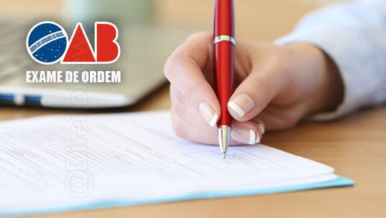 trf inscrever oab aprovacao exame ordem