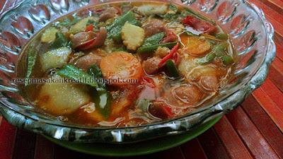 Menu kuliner rumahan favorit dari materi aneka sayuran Resep Capcay Sayur Kuah Kental Pedas