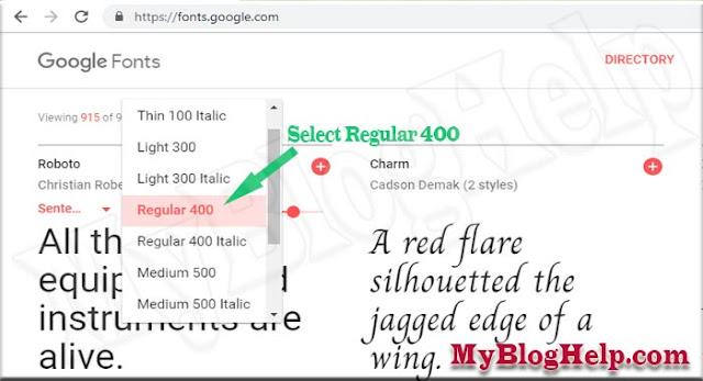 Google-Font-Weight