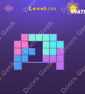 Cheats, Solutions, Walkthrough for Move Blocks Easy Level 109