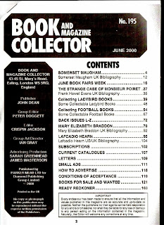 photocopy of Book and Magazine Collector June 2000, no. 195