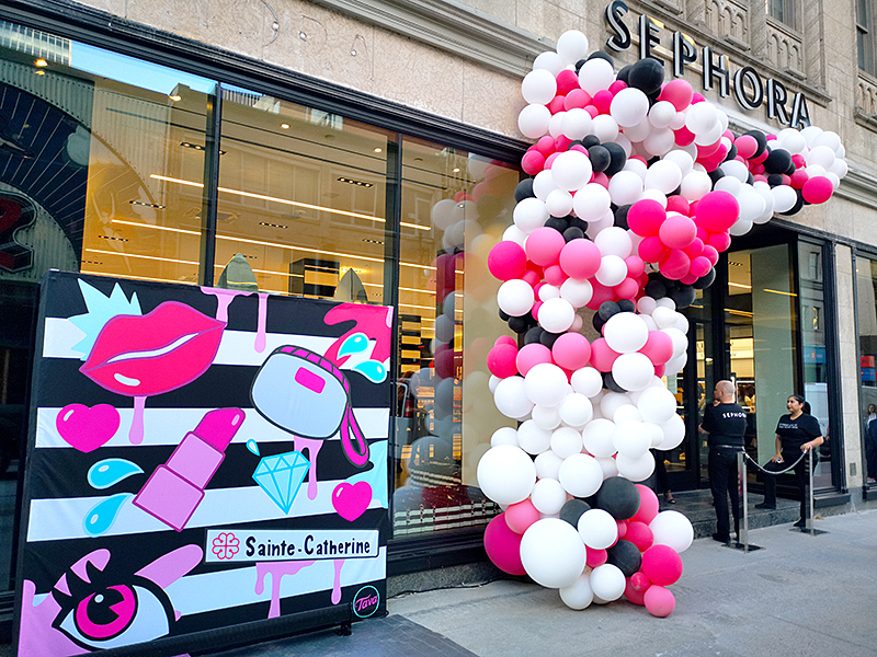 Sephora Canada at Eaton Center Montreal, ReOpening Event