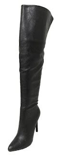 womens black thigh high stiletto boots for sexy steampunk outfit