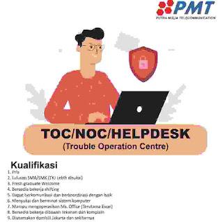lowongan kerja helpdesk pt putra mulia telecommunication