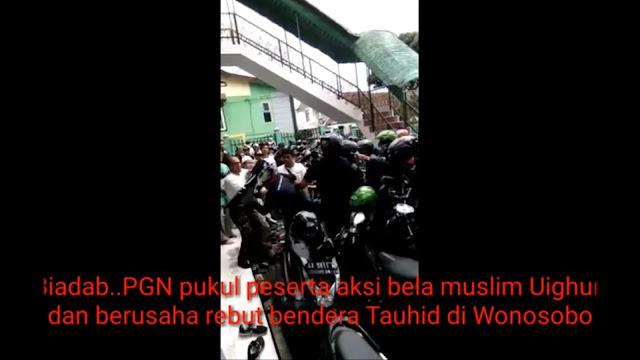 Anak Buah Gus Nuril Bubarkan Demo Peduli Muslim Uighur di Wonosobo