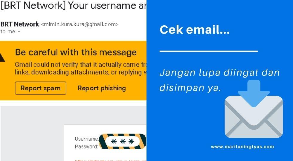 cek email dari BRT