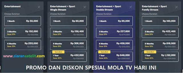 Cara Daftar dan Berlangganan Mola TV, Promo dan Diskon Hari Ini