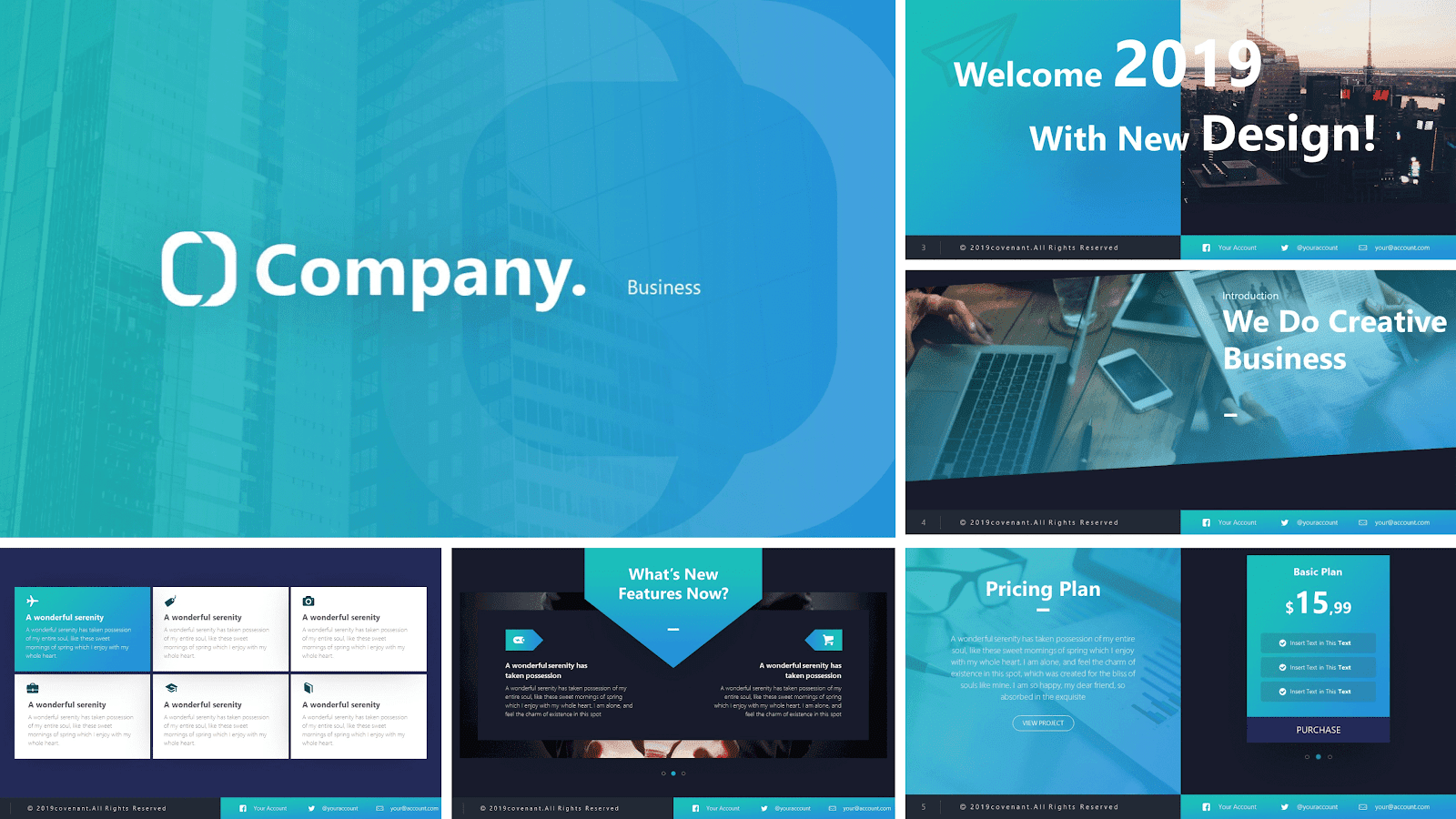 Company- Collection slides powerpoint in business