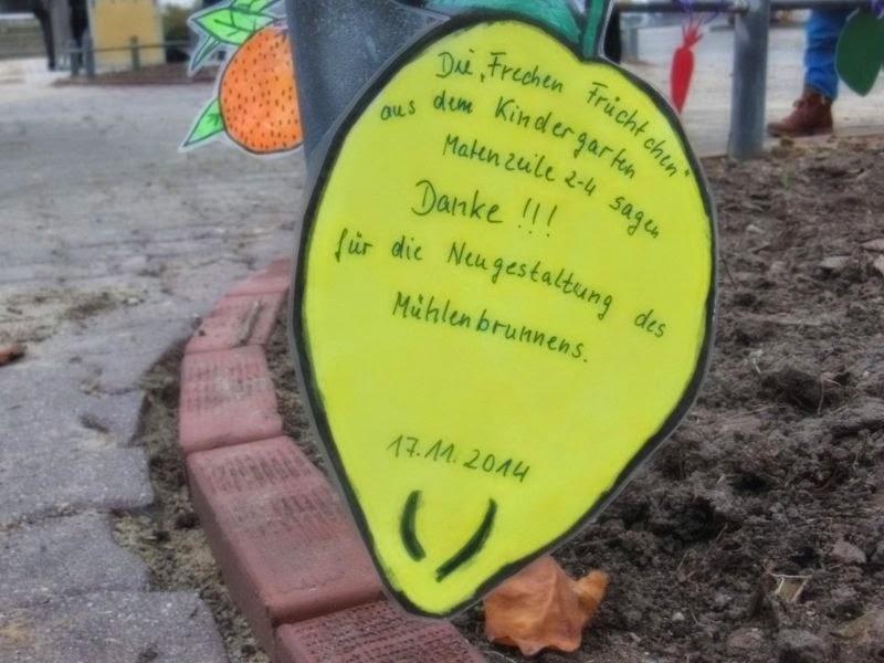 Dank der Kinder der Kita 'Freche Früchtchen'