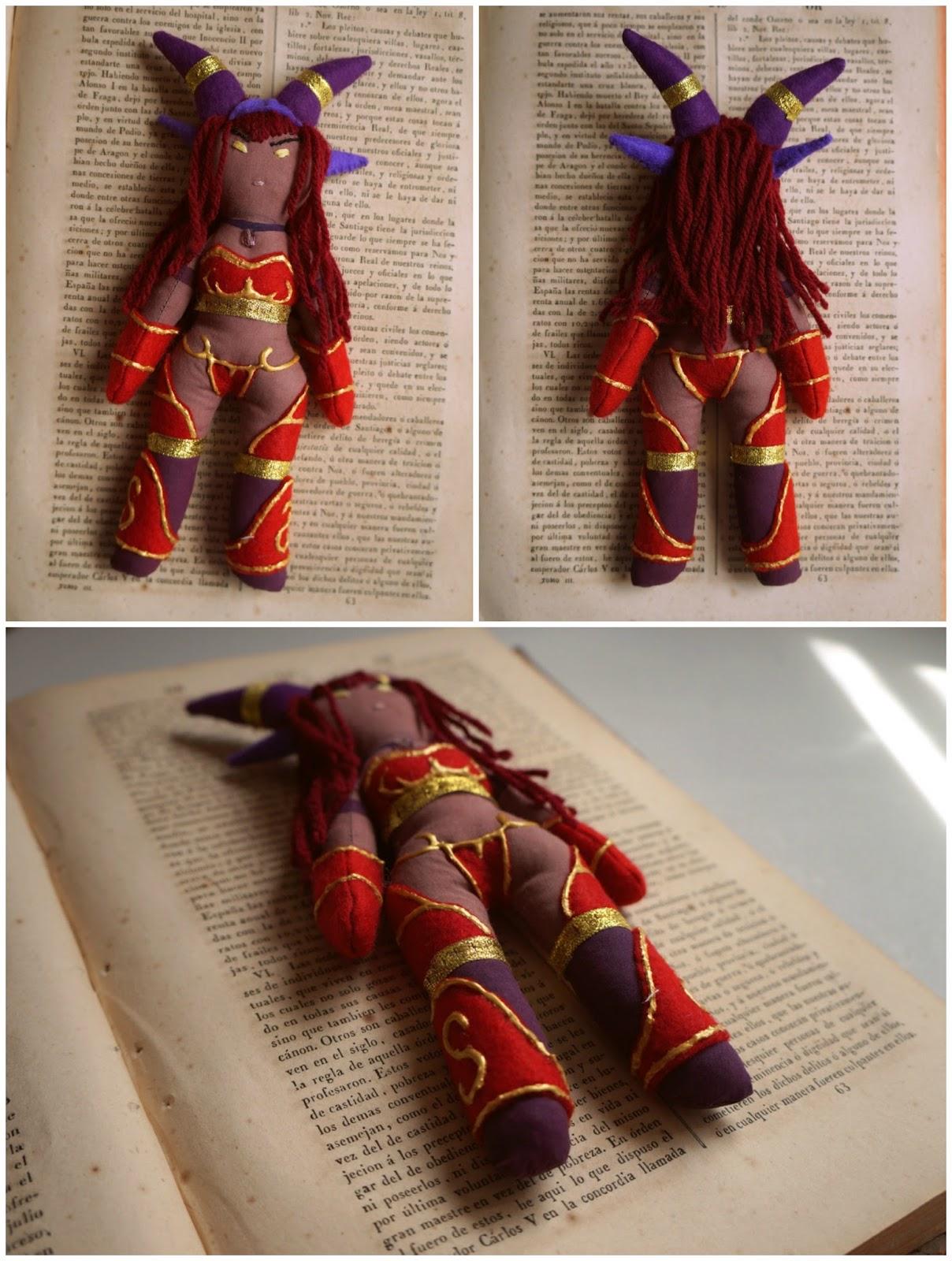 Muñeca personalizada de Alextrasza, World of Warcraft.