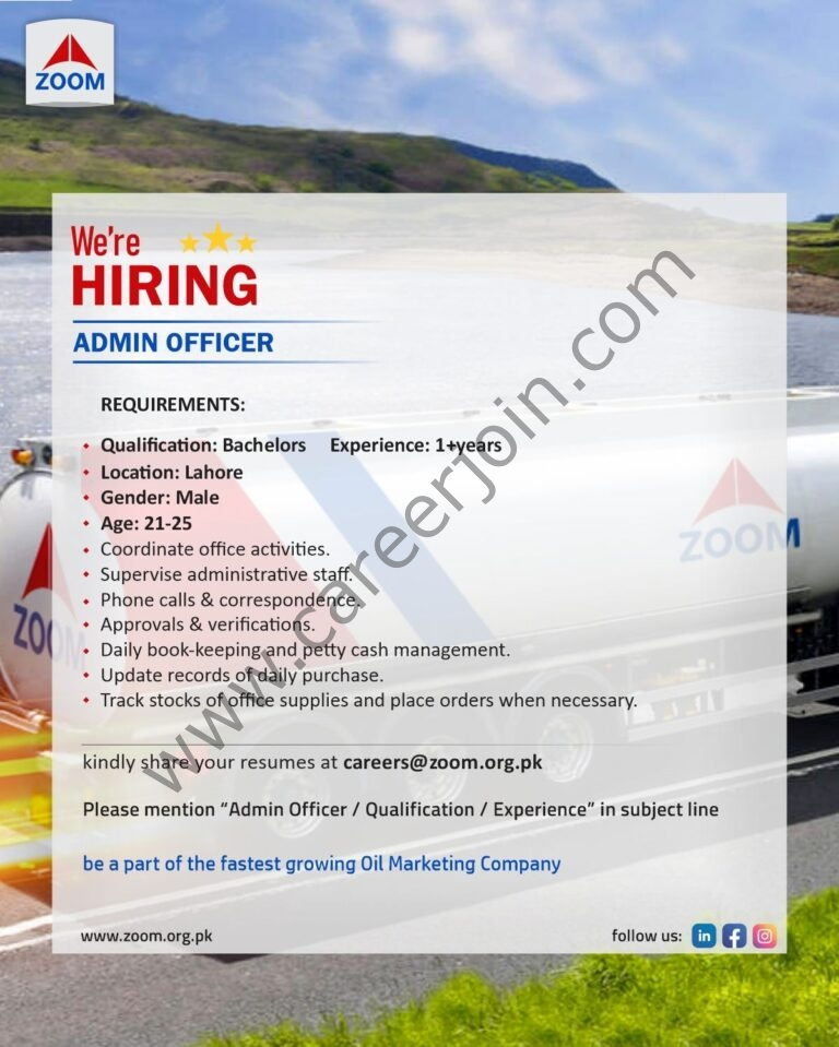Zoom Marketing Oils Jobs July 2021