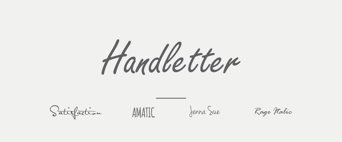 Mengenal Jenis-jenis Font - Handletter Font