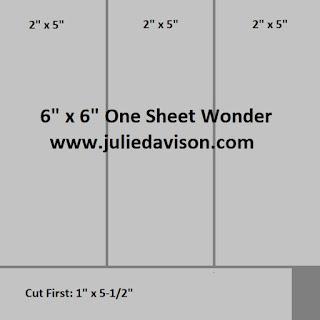 "6"" x 6"" One Sheet Wonder Template by Julie Davison, www.juliedavison.com"