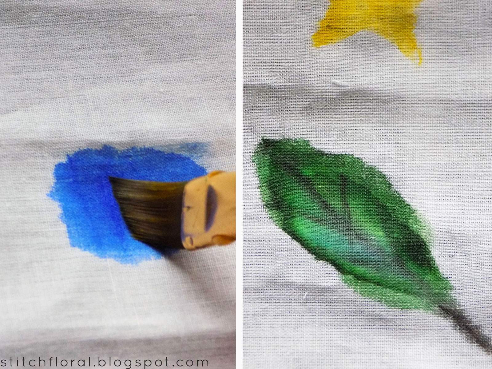 Fabric Painting Paint Vs Watercolor Stitch Floral