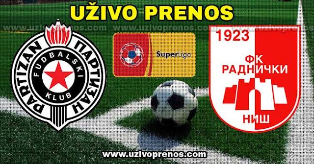 Superliga Srbije: Partizan - Radnički Niš UŽIVO PRENOS