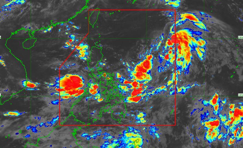Satellite image of Tropical Depression 'Fabian'