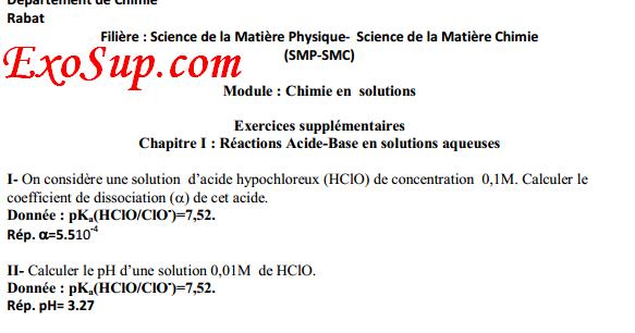 Exercices Corrig U00e9s  R U00e9actions Acide 15