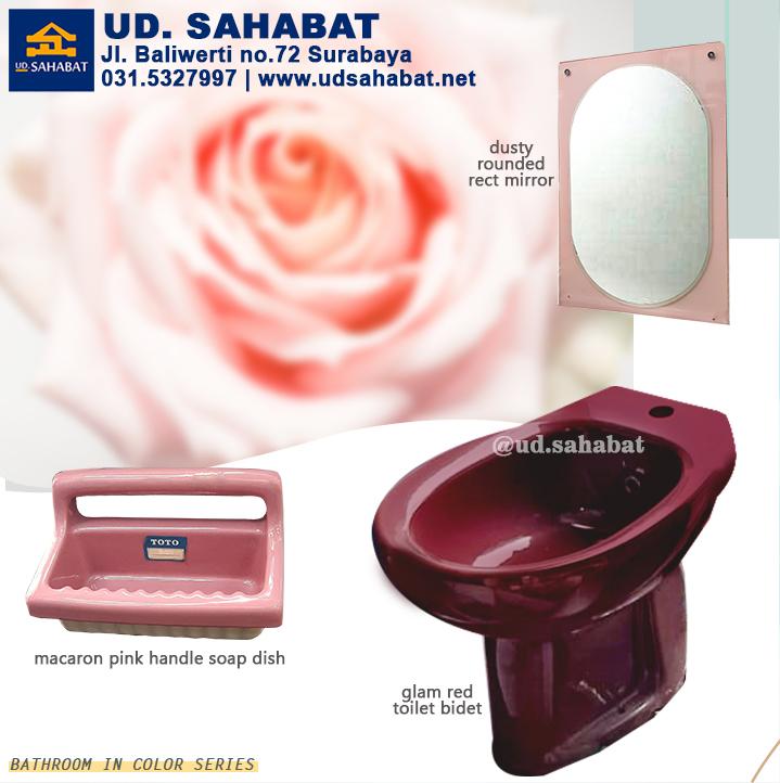 model kamar mandi merah muda makeover jual item kamar mandi ud sahabat surabaya