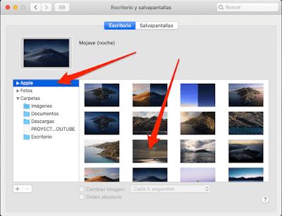 Como cambiar el fondo de pantalla en Mac
