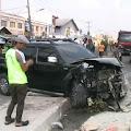 Hilang Kendali, Tiga Kendaraan Roda Empat Mengalami Kecelakaan Beruntun di Kosambi