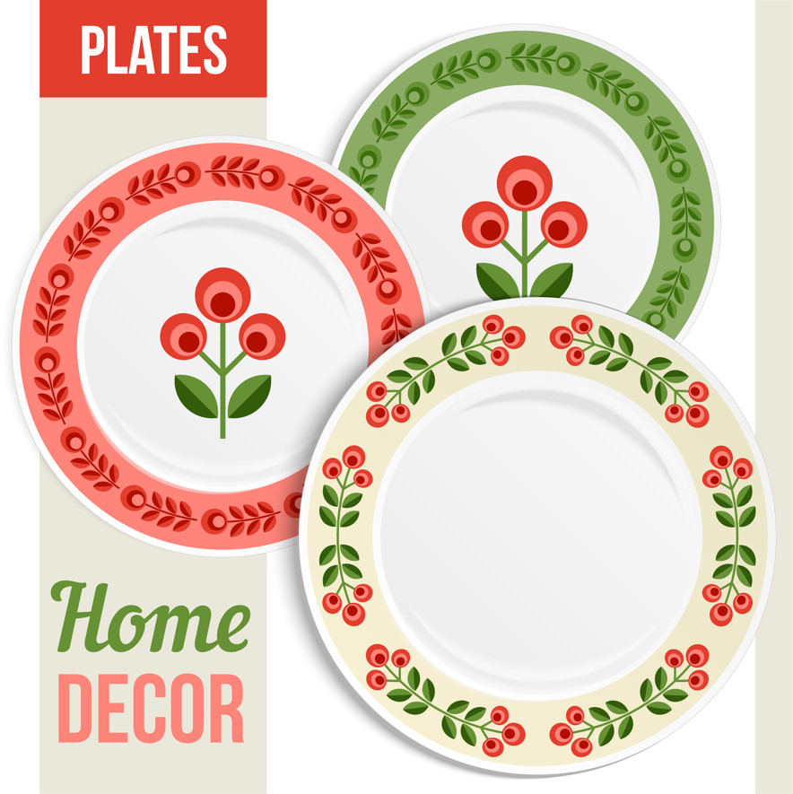 Download designs for printing on Chinese and plastic dishes in Photoshop and Vector formats, EPS & PSD