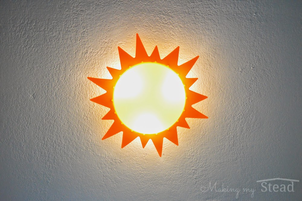Making My Stead Creating A Sunny Sky Nursery Ceiling